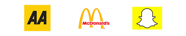 Yellow brands logos