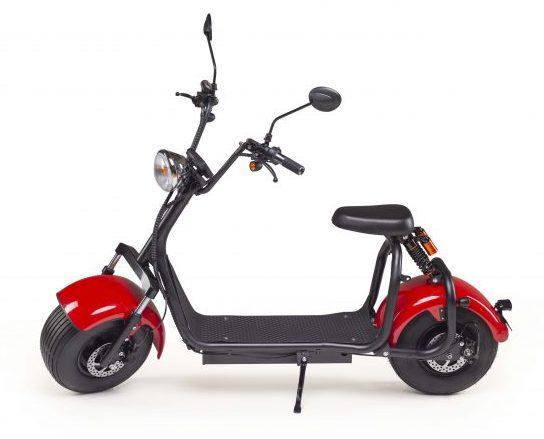 The Tubby Tyre Scooter Company - Red and black scooter