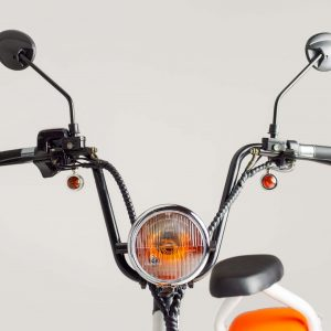 Tubby Tyre Scooter Company - Headlight and handlebars