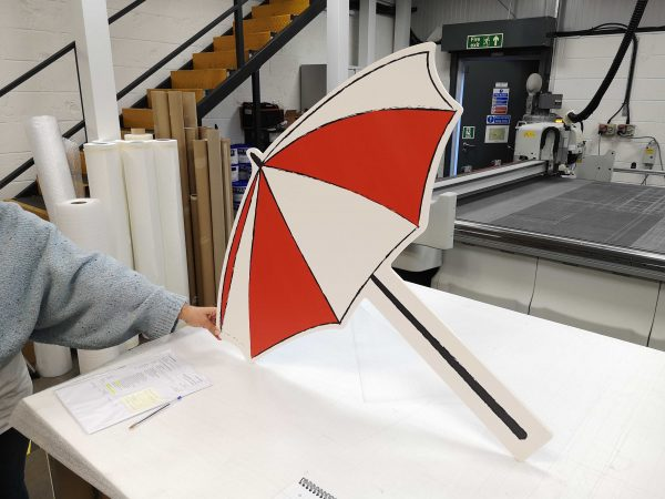 Tubby Tyre Scooter Company - Umbrella prop