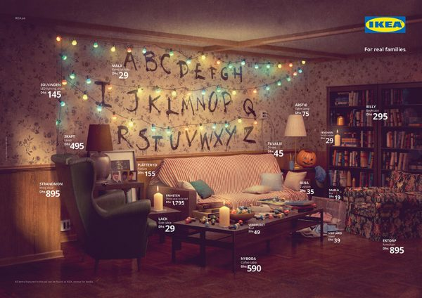 Ikea recreate Will Byers' living room from Stranger Things