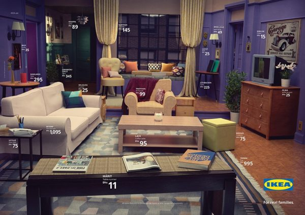 IKEA recreate Friends Living Room