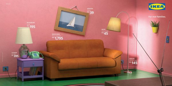 IKEA recreate the Simpsons' living room