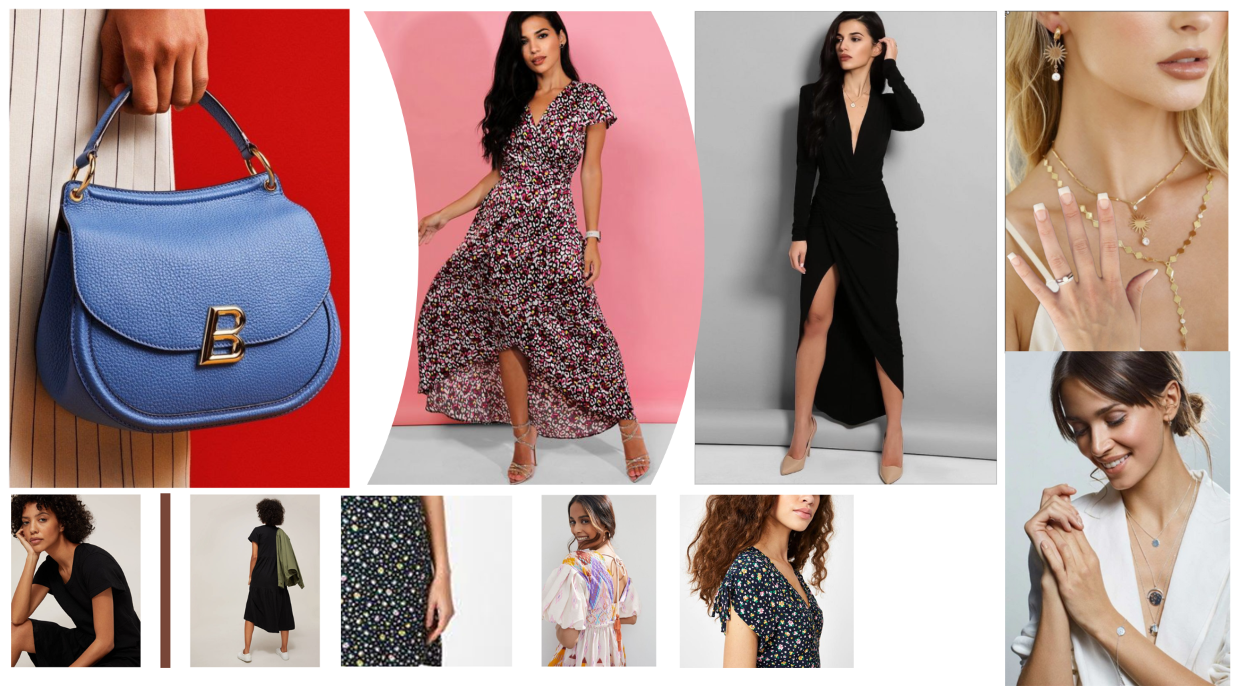 Example images from our headline Model & eCommerce moodboard